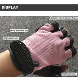 女性のナイロン多彩な通気性のスポーツの重量挙げの皮手袋
