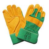 10.5 Zoll-Kuh-Oberseite-Korn-Leder-Arbeits-Handschuhe