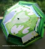 자동을%s 가진 Foldling 우산이 열린다