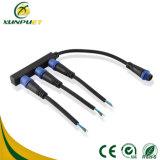 Linha de borracha conetor do cabo de fio de 8 Pin para a iluminação do diodo emissor de luz