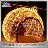 Большой шарик рождества СИД напольный освещает свет украшения сада праздника светлый