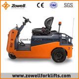 Ce/ISO9001 Elektrische Slepende Tractor die met 6 Ton Kracht trekken