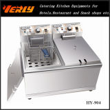 Sale chaud Commercial Electric Fryer, 17L Desktop Electric Fryer, 1 CE Approved (HY-902) de Tanks 2 Baskets