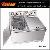 Sale caldo Commercial Electric Fryer, 17L Desktop Electric Fryer, 1 CE Approved (HY-902) di Tanks 2 Baskets