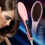 Pettine elettrico della spazzola del raddrizzatore di ceramica dei capelli dello schermo dell'affissione a cristalli liquidi