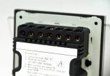 Del botón de cristal 86 interruptor eléctrico ligero alejado de la pared 3-Gang