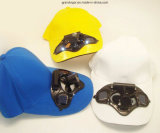 Почищенная щеткой крышка хлопка пиковая с солнечными вентиляторами