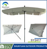 2.4*1.75m X6 Panel Manual Open Fashion Square Umbrella Sy2417