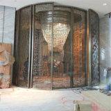 Construction établissant le projet de métal ouvré d'écran de diviseur de pièce de Dubaï d'acier inoxydable