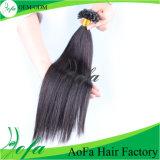 Ponta do cabelo humano de Remy do cabelo da qualidade da venda por atacado da fábrica do cabelo de Aofa