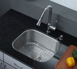 Sob o dissipador de cozinha do aço inoxidável da montagem S3833