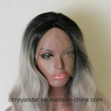 Heiße verkaufenhaar-vordere Spitze-Haar-lang lockige synthetische Perücke