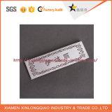 Escritura de la etiqueta tejida insignia de encargo modificada para requisitos particulares del paño de la tela del diseño para la impresión