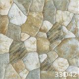 庭の装飾(300X300mm)のための無作法な玉石を敷かれた石造りのフロアーリングの寄木細工の床床