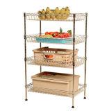Estante ajustable de la cesta de la cocina del metal del cromo para la fruta/el vehículo