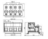 Draht-Schutz-Typ Klemmenleiste-Verbinder 5.0 mm Abstand UL-Cer bestätigt (WJ331)