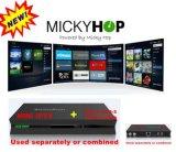 Inteligente Android DVB Box e IPTV Ott Caja con Iks, Cccamd, Newcamd