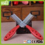 Pettini d'acciaio dei capelli degli aghi della mano di plastica dell'animale domestico (HN-PG345)