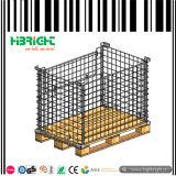 Rectángulo del envase de la jaula del acoplamiento de alambre para el almacenaje