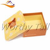 Rectángulo de regalo de empaquetado del papel de la cartulina del rectángulo del regalo de encargo con la tapa