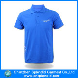 주문 고품질 남자 파란 면 형식 골프 폴로 셔츠