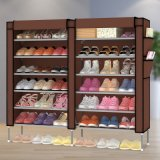 12-Tier Metal Frame Waterproof Cloth Shoe Cabinet (WS16-0045, per mobilia domestica)