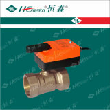 La vávula de bola motorizada Dqf-D/vávula de bola de cobre amarillo/HVAC controla productos