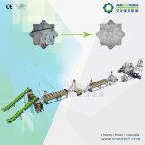 Plastic HDPE van het afval Flessen die de Lijn van de Was recycleren