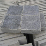 Caída/antigüedad/Bushhammered/azulejo de suelo gris pulido chorro de arena afilado con piedra de la piedra caliza del final para la piedra de pavimentación