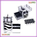 Top Acryl Berufsnagel-Storage Box Zebra Nail Polish Tragetasche (SACMC092)