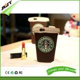 caja del teléfono del silicón de la dimensión de una variable de la taza de café de la historieta 3D para el iPhone 6s