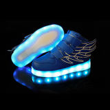 Wings USB Charging LED Sports Shoes Sombra de incandescência