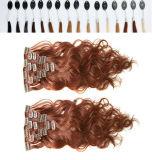 clip humano de la Virgen brasileña de 8A 240g en extensiones del pelo