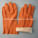 Gants chimiques entièrement enduits de sécurité du travail de PVC avec du CE