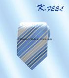 大人のための青および白い縞の絹のネクタイ