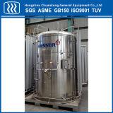 El tanque de almacenamiento de oxígeno líquido criogénico