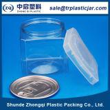 Еда квадратного любимчика пластичная может с алюминиевой крышкой Eoe
