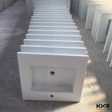 Lavabo de colada superficial sólido superior del cuarto de baño de las mercancías sanitarias modernas de tabla