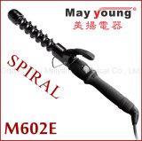 Automático al por mayor única espiral barril revestimiento de cerámica LED rizador de pelo
