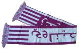 Теплый акриловый сплетенный шарф футбола
