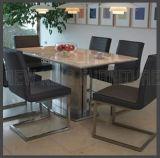 椅子(NK-DT218-1)が付いているHotsaleの食堂デザイン大理石の食卓