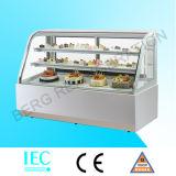 Refrigerador do indicador da padaria com mármore branco