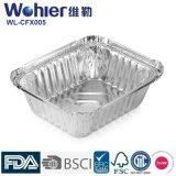 航空会社の食事のための環境に優しいアルミニウム長方形のカセロールの食糧容器