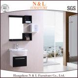 A melhor vaidade moderna de venda da mobília do banheiro do PVC com espelho e lado (B-8010)
