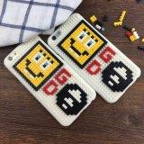 A face de sorriso de Coreia Gd obstrui o caso móvel creativo do telefone de pilha montado manualmente