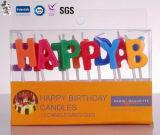 Vela personalizada modelo do aniversário da camada dobro do produto profissional de China vária