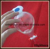 Ampoule à décanter claire en verre de Borosilicate avec le commutateur