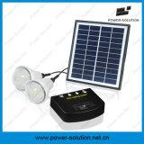 Sistema solar Home do diodo emissor de luz de Shenzhen mini com o carregador do painel solar de 11V 4W e do telefone do USB
