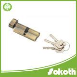 Tono de metal del oro de seguridad en el hogar Individual Open Door Lock Cilindro