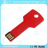 주문 로고 (ZYF1725)에 빨간 금속 알루미늄 8GB USB 지키
